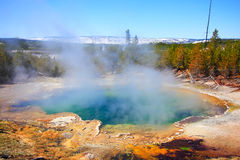 Emerald Springs, Yellowstone stock photo