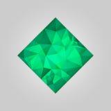 Emerald square shape Stock Photography