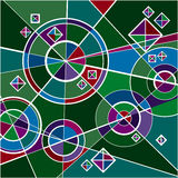 Emerald structure. Abstract dynamic non-closed composition of geometric figures stock illustration