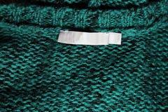 Emerald Sweater Label Fotografia Stock Libera da Diritti