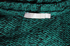 Emerald Sweater Label Royalty Free Stock Photography