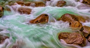Emerald Swirls Washington State Royaltyfri Bild