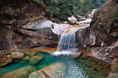 Emerald Valley Waterfall. A beautiful waterfall found at Emerald Valley in Huangshan, China Stock Photography