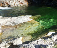 Emerald Water. The emerald colored pools of rivers in Oregon Royalty Free Stock Photos
