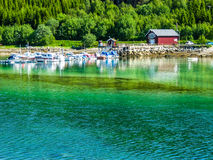 Emerald fjord in Norway Royalty Free Stock Photography