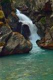 Emerald waterfall Stock Images