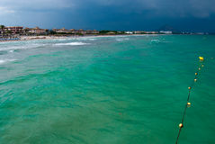 Emerald waters of the Mediterranean Sea Royalty Free Stock Images