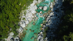Emerald waters of Soca river, are the rafting paradise Stock Image