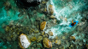 Emerald waters of Soca river, are the rafting paradise Stock Images