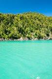 Emerald waters in the south of Chile. Beautiful emerald waters in the south of Chile Royalty Free Stock Image