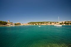 Emerald waters of Tisno Royalty Free Stock Photos