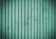 Emerald wooden wall Royalty Free Stock Image