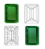 Emerald for your design Royalty Free Stock Photo