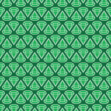 Emeralds are forever. Seamless pattern with abstract gemstones Royalty Free Stock Photos