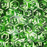Emeralds seamless pattern Royalty Free Stock Photo
