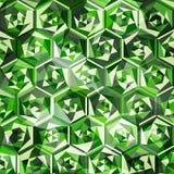 Emeralds seamless pattern. (eps 10 Royalty Free Stock Photo