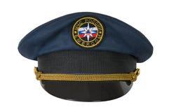 emercom dell'ufficiale del Picco-cappuccio Fotografie Stock
