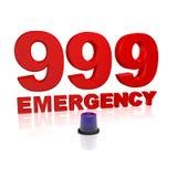 emergência 999 Foto de Stock Royalty Free