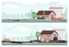 Emergência da inundação da água ilustração royalty free