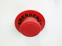 Emergência da tecla vermelha Foto de Stock Royalty Free