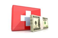 Emergência do dae (dispositivo automático de entrada) do dinheiro Imagem de Stock
