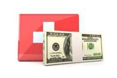 Emergência do dae (dispositivo automático de entrada) do dinheiro Imagens de Stock Royalty Free