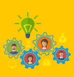 Emergence new creative idea, concept of effective teamwork Royalty Free Stock Photos