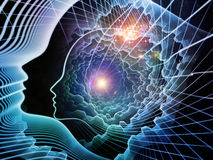 Emergence of Soul and Mind Stock Images