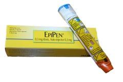 Emergencia de Epipen Imágenes de archivo libres de regalías