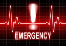 Emergencia - problema del corazón Foto de archivo libre de regalías