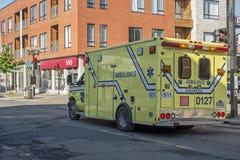 Emergencias médicas de la ambulancia Foto de archivo libre de regalías