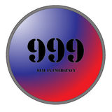 999 for Emergencies. A Big 999 Button for Emergencies isolated on a white background Royalty Free Stock Photography