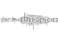 It Emergencies How To Plan For Them Word Cloud Concept. It Emergencies How To Plan For Them Text Background Word Cloud Concept Royalty Free Stock Photo