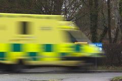 Emergency. An ambulance car speeding towards urgent care Royalty Free Stock Photography