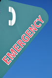 Emergency. Phone call station sign Royalty Free Stock Image