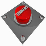 Emergency. A 3D render illustration of a red EMERGENCY button Royalty Free Stock Photography