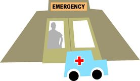 Emergency stock illustration