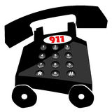 Emergency 911. Telephone dialing emergency in a hurry - 911 Royalty Free Stock Photo