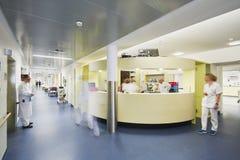 Emergency admission hospital doctor many motion blur royalty free stock image