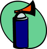 Emergency air horn signal or alarm. Vector. Illustration of an air horn signal or alarm. Vector file available in EPS format Stock Photography