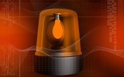 Emergency alarm lamp. Digital illustration of an emergency alarm lamp Royalty Free Stock Photo