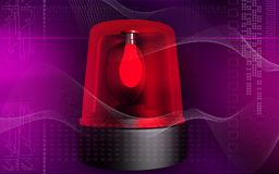 Emergency alarm lamp. Digital illustration of an emergency alarm lamp Royalty Free Stock Image