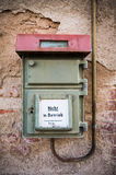 Emergency alarms. An old german emergency alarms on a house wall royalty free stock images