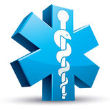 Emergency ambulance medicine symbol. Royalty Free Stock Photography