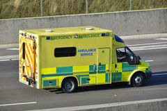 Emergency Ambulance on motorway Royalty Free Stock Photo