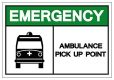 Emergency Ambulance Pick Up Point Symbol Sign,Vector Illustration, Isolate On White Background, Label ,Icon. EPS10 stock illustration