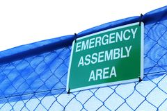 Emergency assembly sign. Stock Images