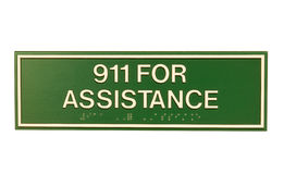 Emergency assistance sign Stock Image