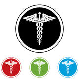 Emergency black ,red,green and blue  web icons. Stock Images