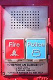Emergency box. On the street in New York City royalty free stock photos